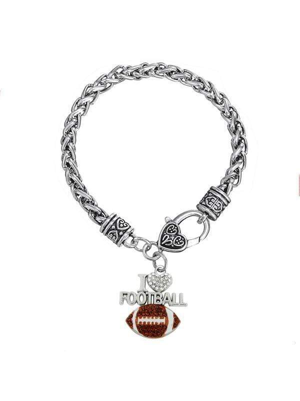 instylestreet Accessories Same as photo / One Size I Love Football Bracelet