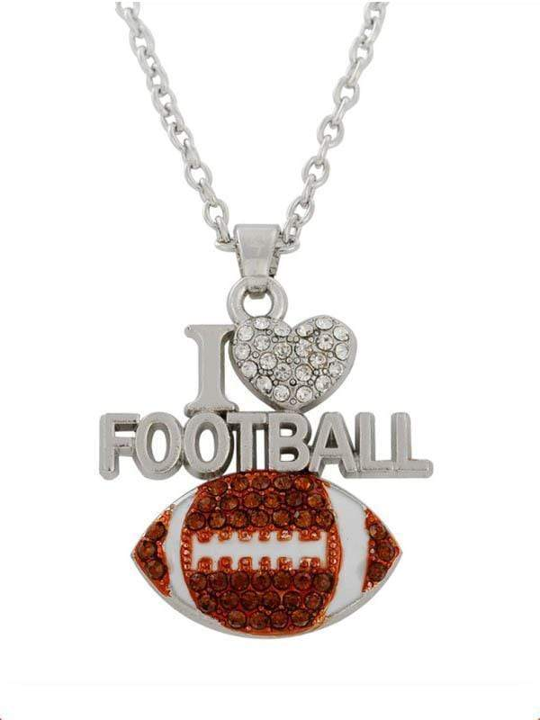 instylestreet Accessories Same as photo / One Size I LOVE FOOTBALL Clavicle Necklace
