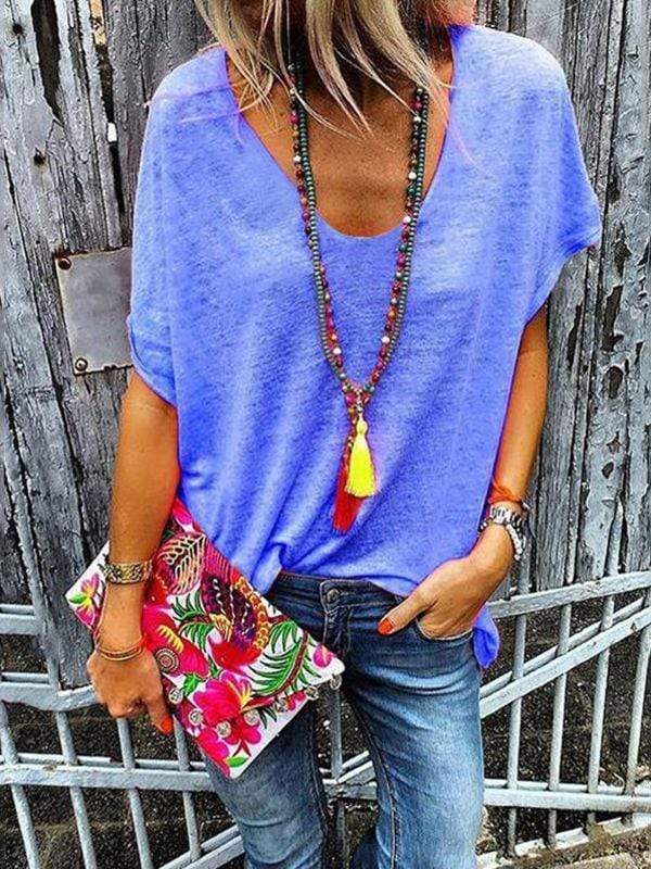 instylestreet.com Blouses Blue / S Loose Fit Fluorescent T-shirts