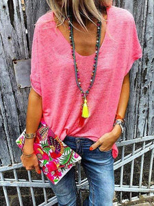 instylestreet.com Blouses Red / S Loose Fit Fluorescent T-shirts