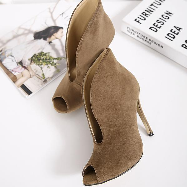 instylestreet.com Boots Brown / 35 Chic Peep-Toe High-Heeled Sandals