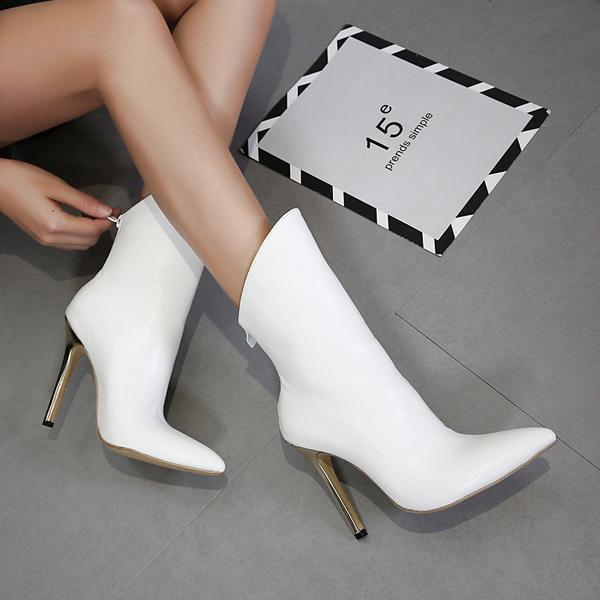 instylestreet.com Boots White / 35 Fashionable High-Heeled Pointed Female Boots