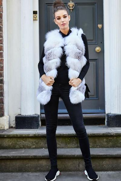 instylestreet.com Coats S Loose Soft Long Faux Fur Vest