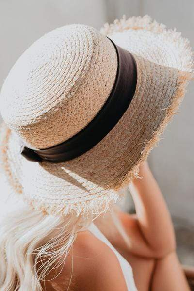instylestreet.com hat Tobacco Distressed Bow straw hat