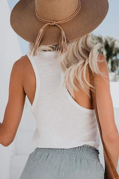 instylestreet.com hat Tobacco Distressed Woven Fringed Straw Hat