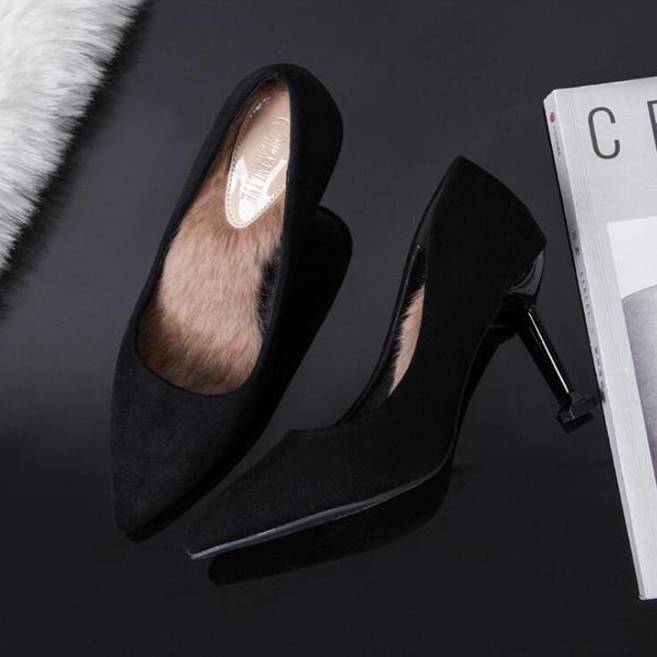 instylestreet.com High Heels Black / 34 Inner Fur High Heel Shoes