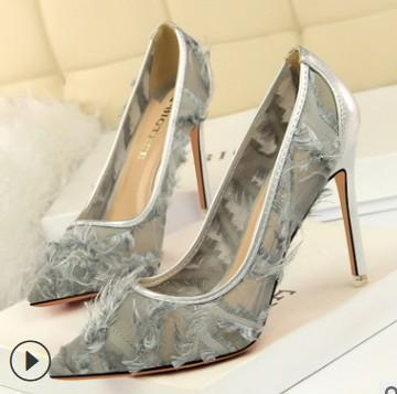 instylestreet.com High Heels White / 34 Transparent Fur High Heel