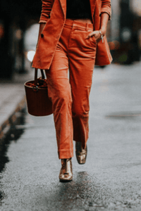 instylestreet.com Pants S Orange Blazer Pants