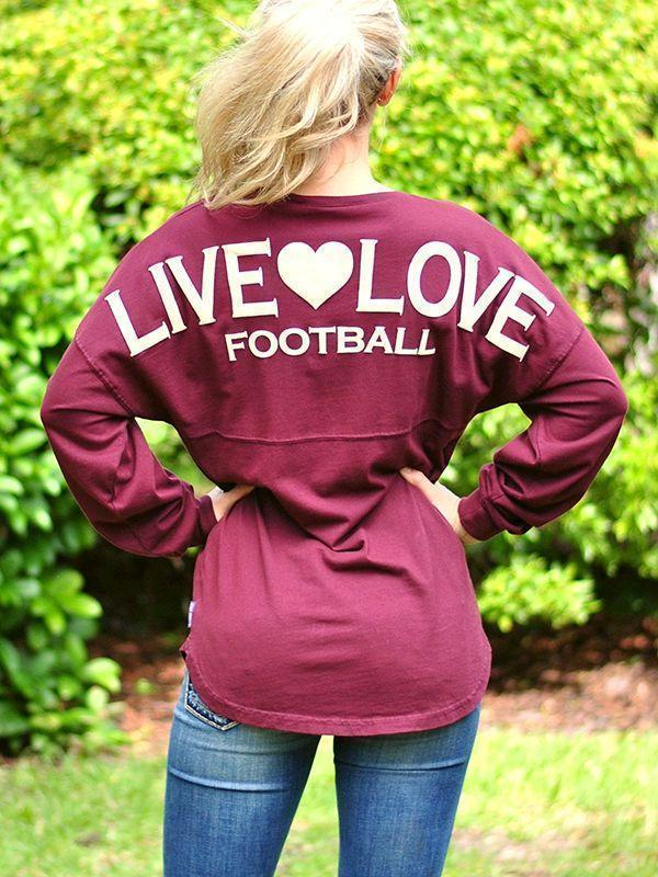 instylestreet T-shirts Live Love Football Jerseys Top