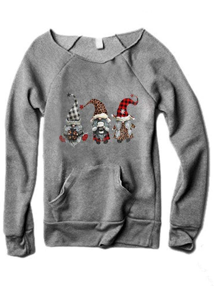 instylestreet T-SHIRTS Women's Scandinavian Christmas Gnome Casual Top