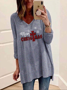 maochic S / Wathet Super Cozy Merry Christmas Long Sleeve Shirt