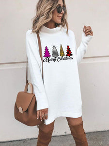 maochic S / White Cozy Merry Christmas Tree Buffalo Plaid Sweatshirt