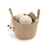 LooHoo Wool Dryer Balls - Jute Tote Laundry Set