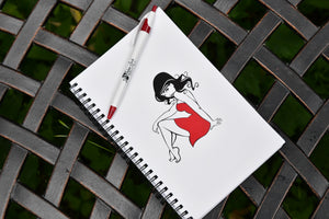Red Dress Girl Journal