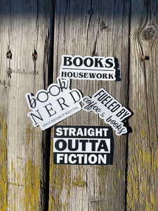 Bookish sticker pack