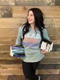 Read More Books Hoodie sage and pastel
