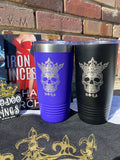 Voodoo Kings skull 20 oz Tumbler