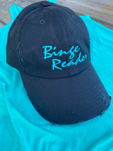 Binge Reader embroidered distressed Hat