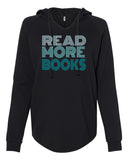Read More Books Hoodie black and teal