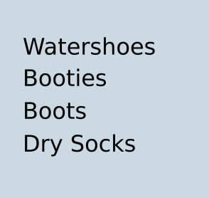 Watershoes / Dry Socks