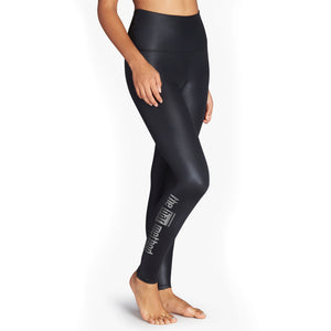 Bar Method X Beyond Yoga Black Glossy Legging