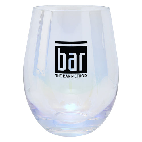 Bar Method Logo Stemless Wine Glass