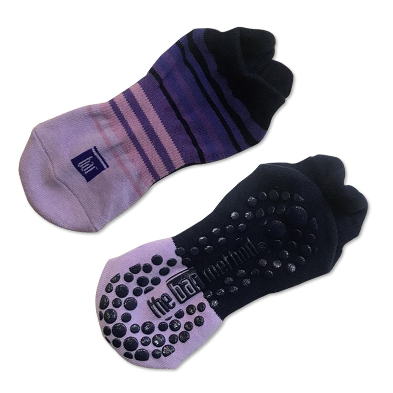 Grip Socks - Purple Navy Pink Multi Stripe