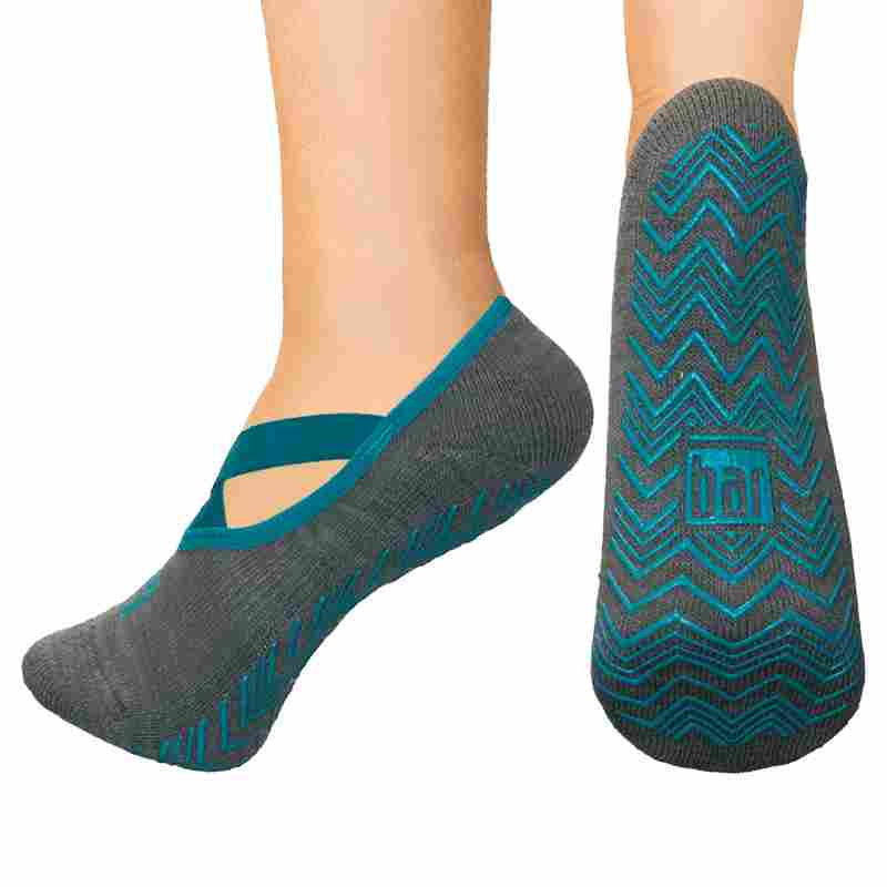 Open top socks - ballet slipper teal