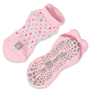 Grip Socks - Pink Polka Dot