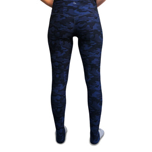 Bar Method x Nancy Rose Camo Leggings - Navy Blue