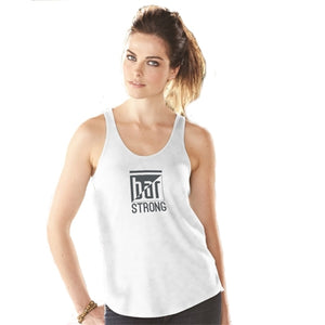 Racerback tank - bar strong white