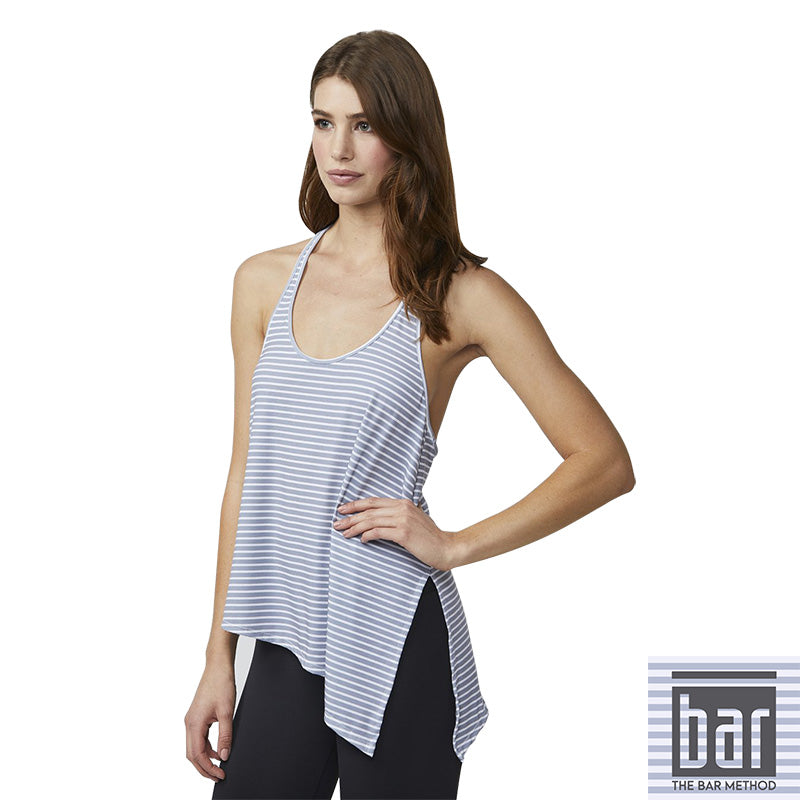 Bar Method x DYI Asymmetrical Tank (Grey Stripe)