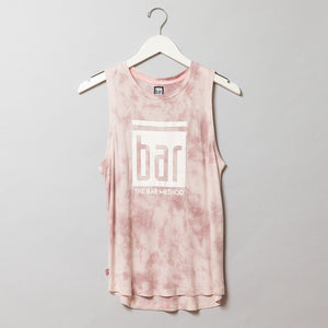 Bar Method Tie Dye Muscle Tank - Rose