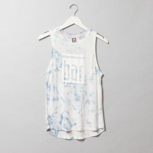 Bar Method Tie Dye Muscle Tank - Sky Blue