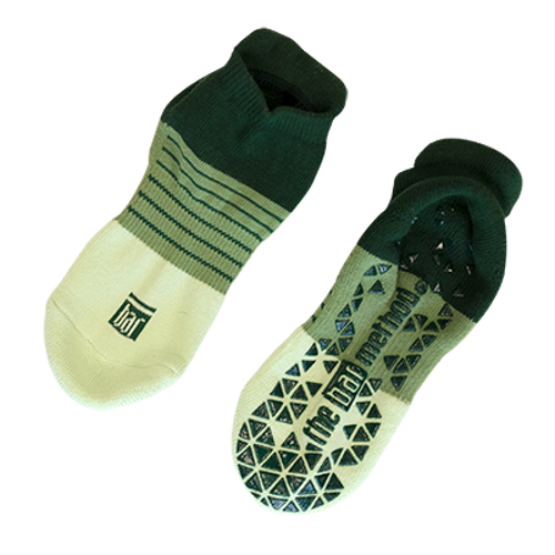 Grip socks - green stripe