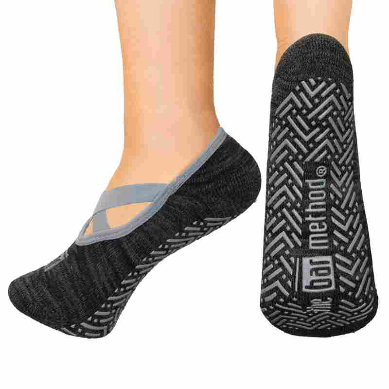 Open top socks - ballet slipper black heather / charcoal