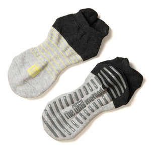 Grip Socks - Black Color Black Heather Stripe