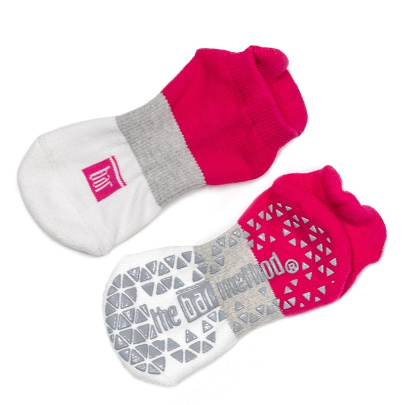 Grip socks - rose block