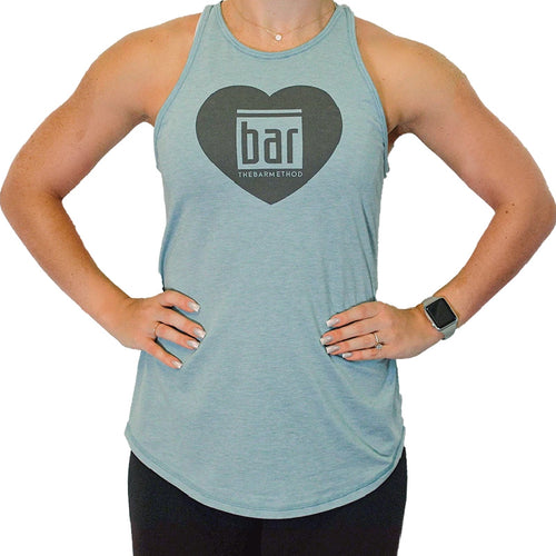 Bar Method x Nancy Rose Exhale Tank - Heather Teal