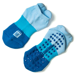 Grip Socks - Blue Block Stars