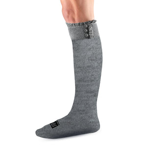 Knee high socks - grey ruffle