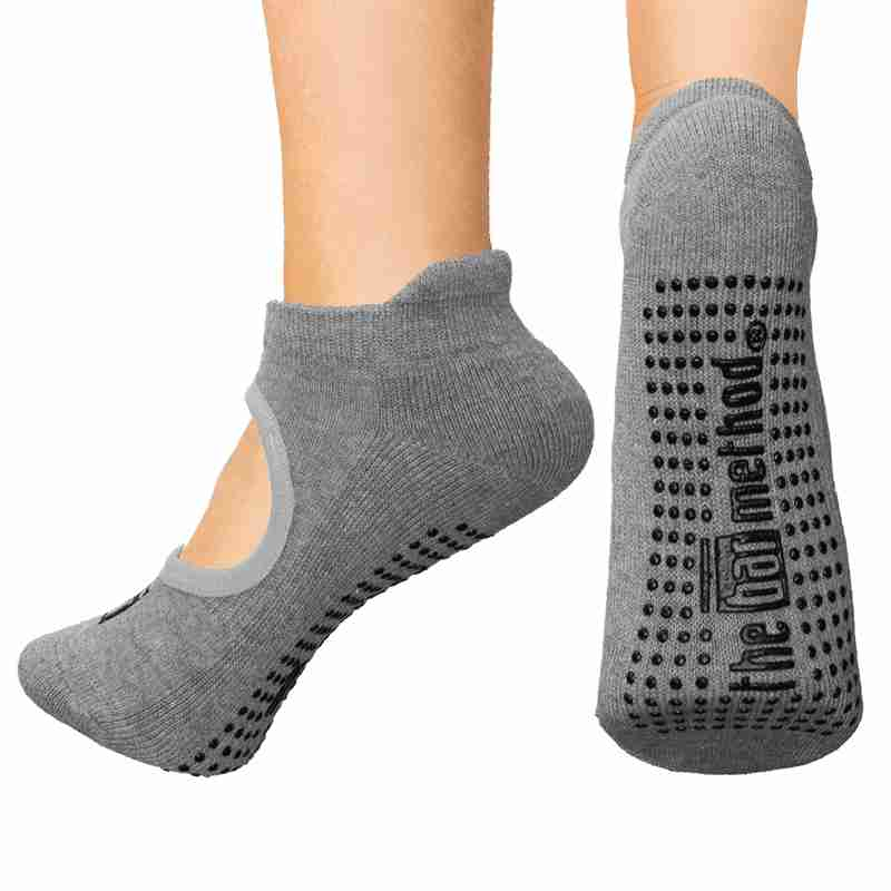 Open top socks - grey