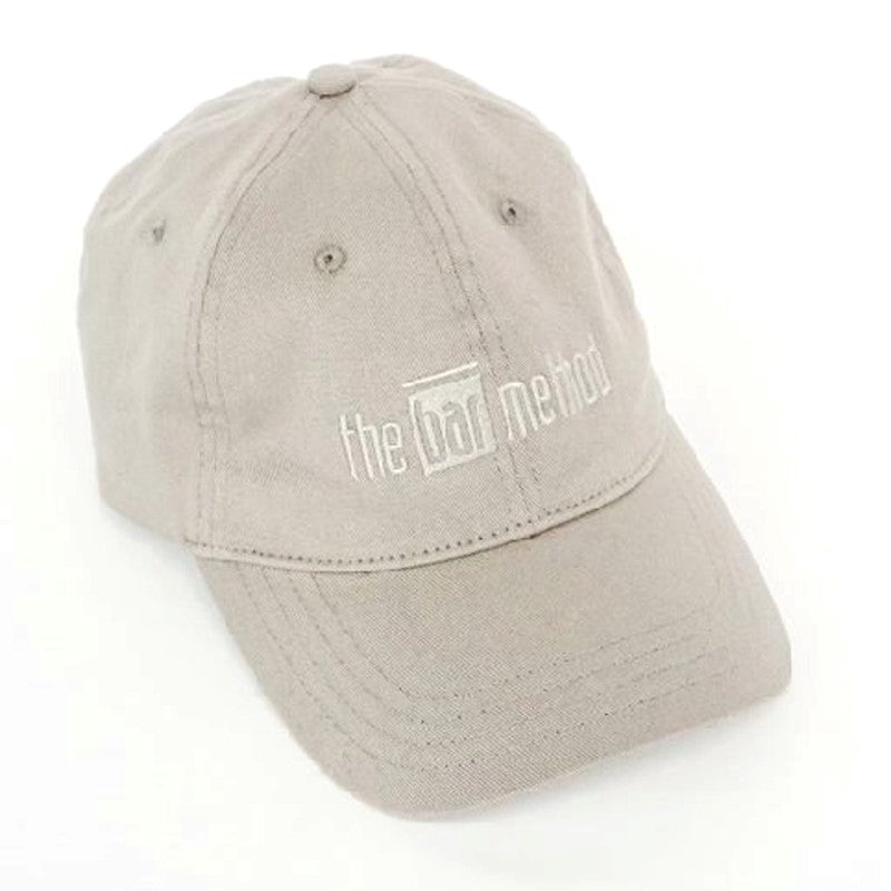 Bar Method Embroidered Logo Baseball Cap – Grey