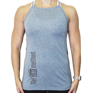 Bar Method x Nancy Rose Halter Tank - Heather Denim