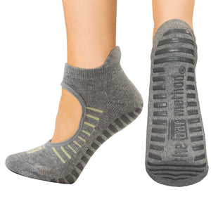 Open top socks - yellow stripe