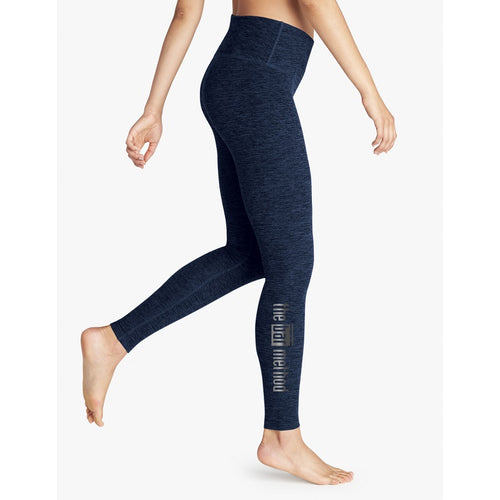 Bar Method x Beyond Yoga Black Navy Spacedye Leggings