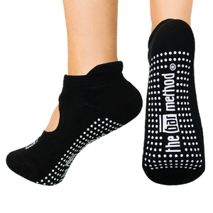 Open top socks - black