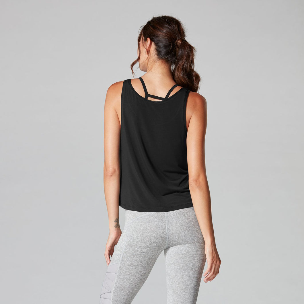Tavi Scoop Neck Ebony Tank