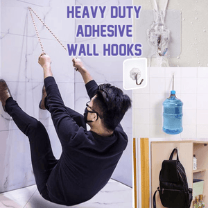 Heavy Duty Adhesive Wall Hooks (6 PCS) - Clevativity