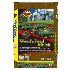 Weed & Feed Brown Shredded Mulch (2cf) #1982w